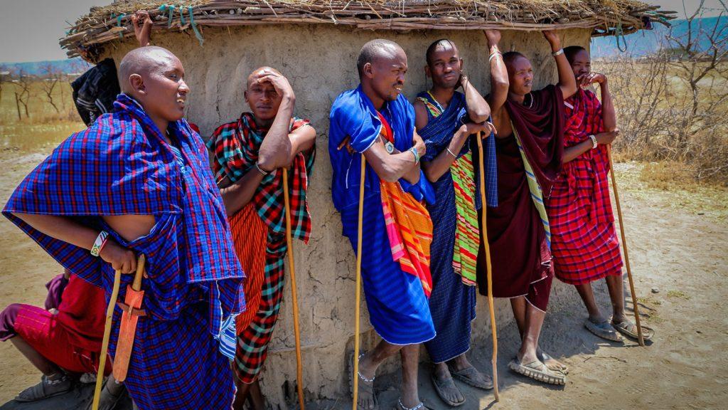 Masaai people in Africa